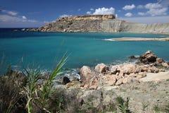 Baia di Gnejna, Malta Fotografia Stock Libera da Diritti