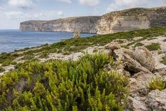 Baia di Gozo Xlendi Fotografia Stock Libera da Diritti