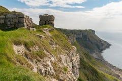 Baia di hallelujah, isola di Portland, costa giurassica, Dorset, Regno Unito fotografia stock libera da diritti