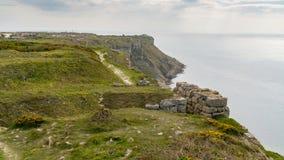 Baia di hallelujah, isola di Portland, costa giurassica, Dorset, Regno Unito immagine stock