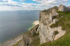 Baia di hallelujah, isola di Portland, costa giurassica, Dorset, Regno Unito immagini stock