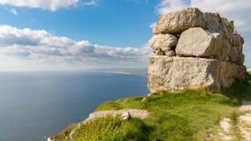 Baia di hallelujah, isola di Portland, costa giurassica, Dorset, Regno Unito immagine stock libera da diritti
