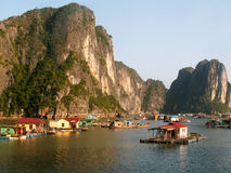 Baia di Halong fotografie stock libere da diritti