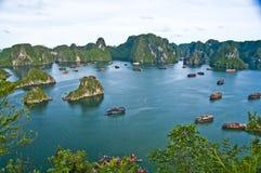 Baia di Halong, Vietnam Fotografie Stock Libere da Diritti