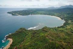 Baia di Hanalei in Kauai fotografia stock libera da diritti