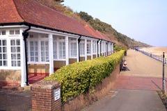 Baia di Holywell, Eastbourne, Regno Unito fotografie stock