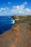 Baia di Kealakio da punto più southernmost negli S.U.A. Fotografie Stock