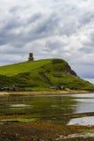 Baia di Kimmeridge con la torre di Clavell Fotografia Stock Libera da Diritti