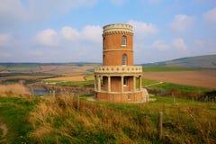 Baia di Kimmeridge del punto di riferimento della torre di Clavell ad est della costa Inghilterra Regno Unito di Dorset della bai Fotografia Stock Libera da Diritti
