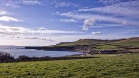 Baia di Kimmeridge in Dorset fotografia stock