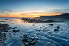 Baia di Kimmeridge in Dorset fotografie stock