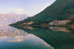 Baia di Kotor, Montenegro fotografia stock