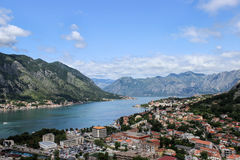 Baia di Kotor, Montenegro Fotografie Stock