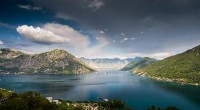 Baia di Kotor nel Montenegro fotografia stock libera da diritti