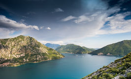 Baia di Kotor nel Montenegro immagine stock libera da diritti
