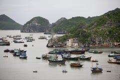 Baia di lunghezza dell'ha, isola del Ba del gatto, Vietnam fotografie stock