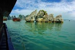 Baia di lunghezza dell'ha, Vietnam Fotografie Stock Libere da Diritti