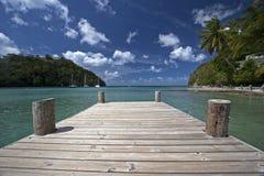 Baia di Marigot, St Lucia Fotografie Stock