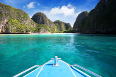 Baia di maya, isola di Phi Phi Leh Fotografie Stock Libere da Diritti