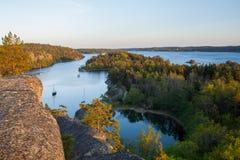 Baia di millefoglie fuori di Stoccolma Fotografia Stock