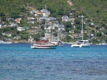 Baia di Ministero della marina a Bequia nei Caraibi. Immagine Stock Libera da Diritti