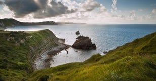 Baia di Mupe di paesaggio dell'oceano di alba Fotografia Stock