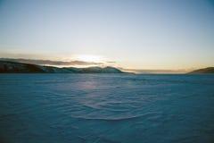 Baia di Nagayeva, Estremo Oriente, inverno fotografia stock libera da diritti
