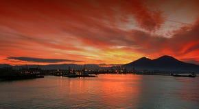 Baia di Napoli Fotografie Stock