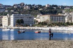 Baia di Napoli Fotografia Stock