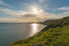 Baia di Osmington, costa giurassica, Dorset, Regno Unito immagini stock libere da diritti