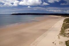 Baia di Oxwich - penisola di Gower. Il Galles Fotografia Stock Libera da Diritti