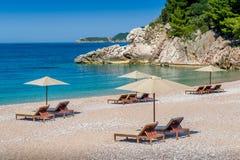 Baia di paradiso del mare adriatico fotografia stock libera da diritti