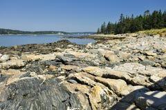 Baia di Penobscot, punto del Marshall, Maine, S.U.A. Fotografia Stock Libera da Diritti