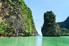 Baia di Phang Nga Fotografia Stock