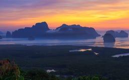 Baia di Phang Nga Fotografie Stock