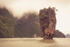 Baia di Phang Nga, Tailandia Fotografie Stock Libere da Diritti