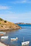 Baia di Portlligat in Catalogna Immagini Stock