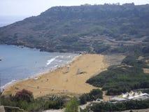 Baia di Ramla in Gozo (Malta) fotografia stock