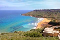 Baia di Ramla, isola di Gozo (Malta) Fotografia Stock Libera da Diritti