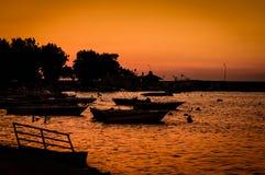 Baia di rilassamento di tramonto Fotografia Stock Libera da Diritti