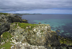 Baia di Sandwick (Unst, Shetland) Fotografie Stock