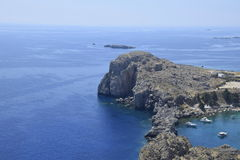 Baia di StPaul, Grecia Immagini Stock