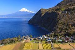 Baia di Suruga e Mt fuji fotografia stock libera da diritti