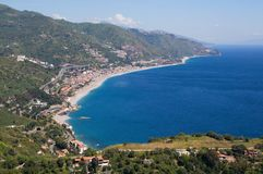 Baia di Taormina, Sicilia, Italia Fotografia Stock Libera da Diritti