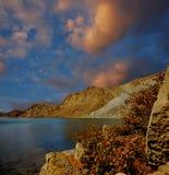 Baia di Tikhaya, Crimea, vicino a Teodosia Immagine Stock
