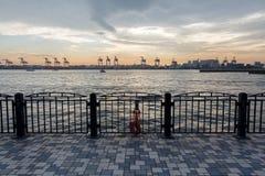 Baia di Tokyo al crepuscolo Fotografie Stock Libere da Diritti