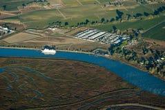 Baia di Vallejo dall'aria Fotografia Stock Libera da Diritti