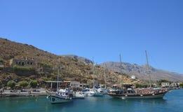 Baia di Vathys, Kalymnos, Grecia Fotografie Stock