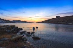 Baia di Vourkari all'isola di Kea Fotografia Stock