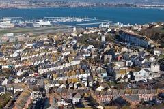 Baia di Weymouth in Dorset Inghilterra Immagini Stock Libere da Diritti